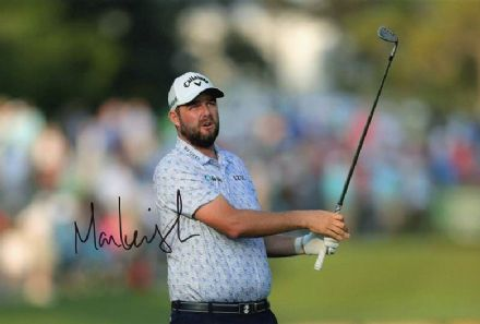 Marc Leishman, signed 12x8 inch photo.